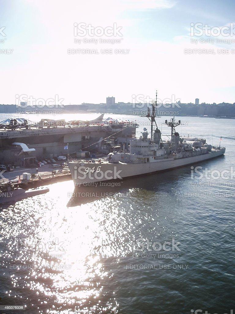 USS Edson in New York City stock photo