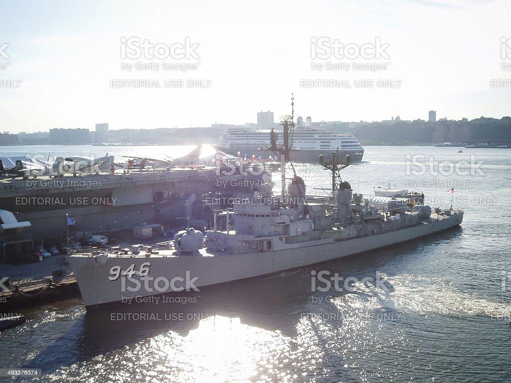 USS Edson in New York stock photo