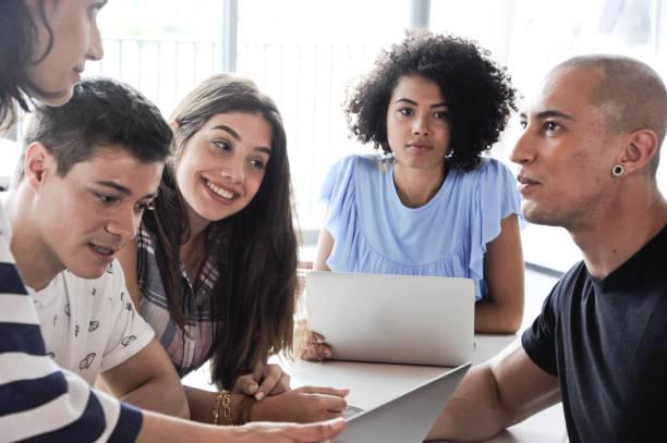Educação Reunião e Tecnologia stock photo