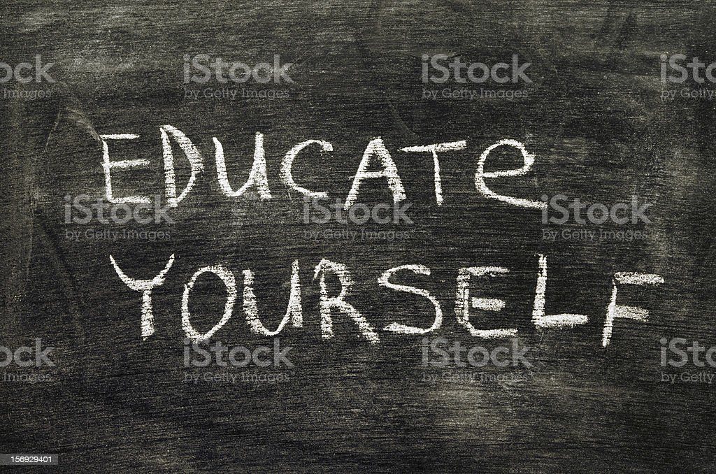 educate yourself stock photo
