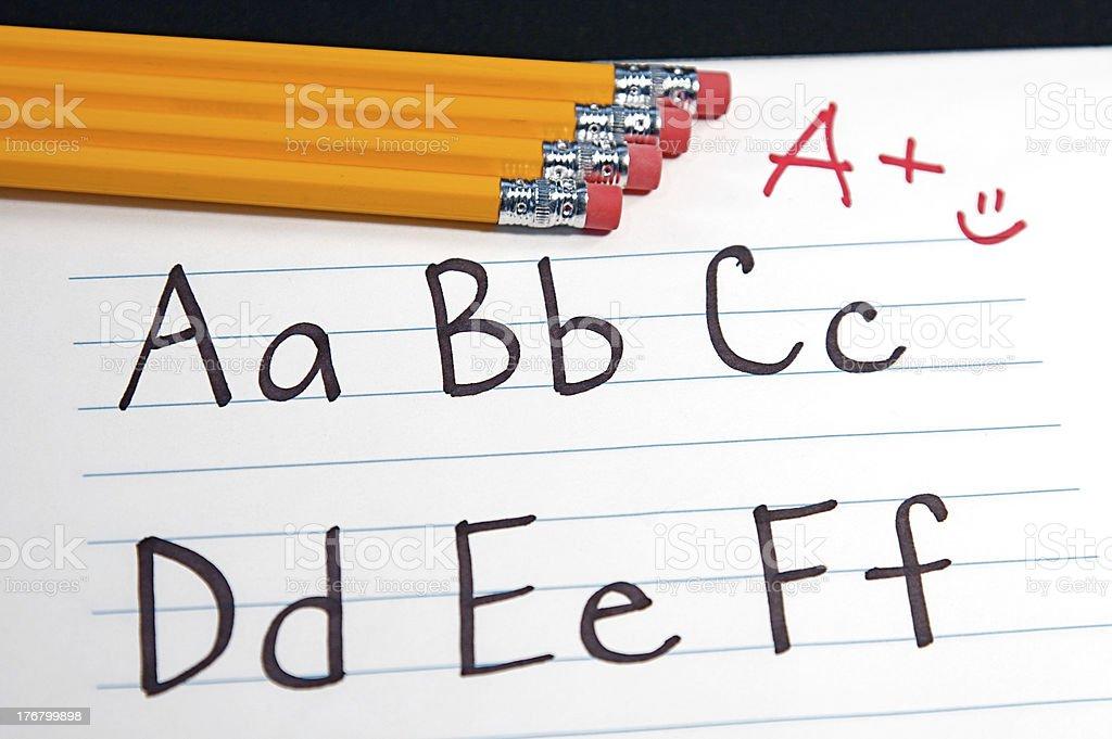Education ABCs royalty-free stock photo