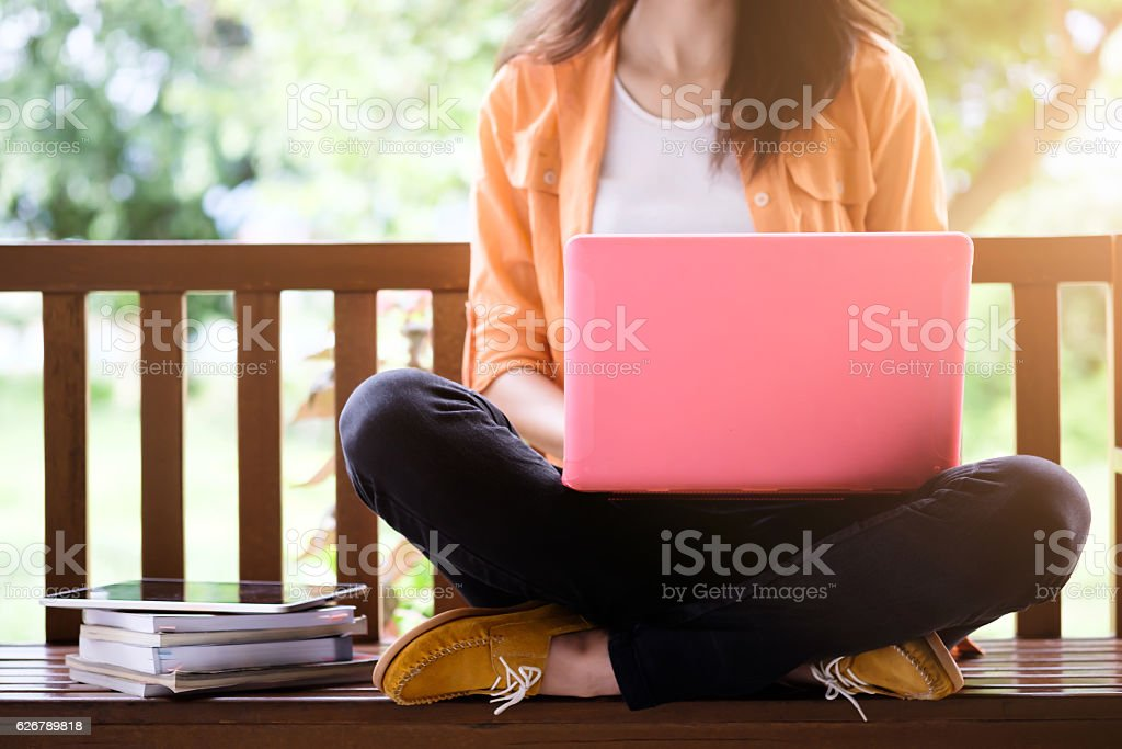 Education and business online working. stock photo