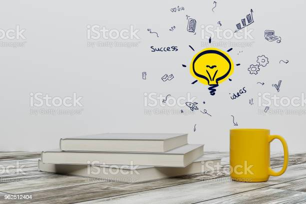 Foto de Conceito De Educação E A Idéia e mais fotos de stock de Café - Bebida