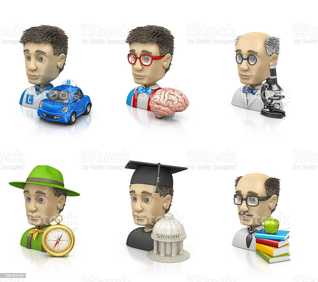 education and science profiles stock photo