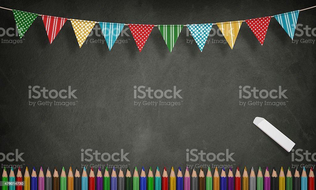 Education, Back to School Concept, blackboard stock photo