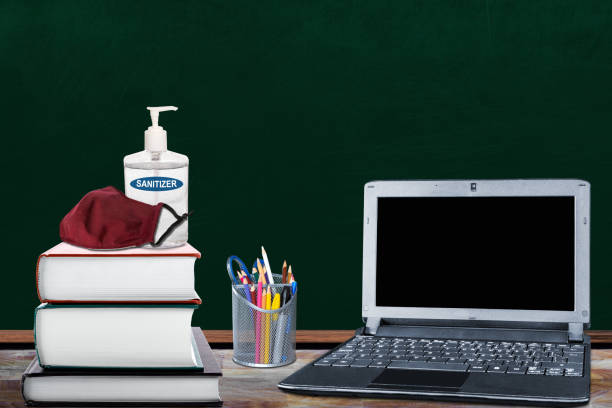 Education Back to School New Normal During Covid-19 Pandemic stock photo