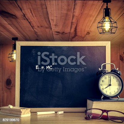 istock Education background concept. Black board for display text or graphic design. Abstract background. Still life style. 829199670