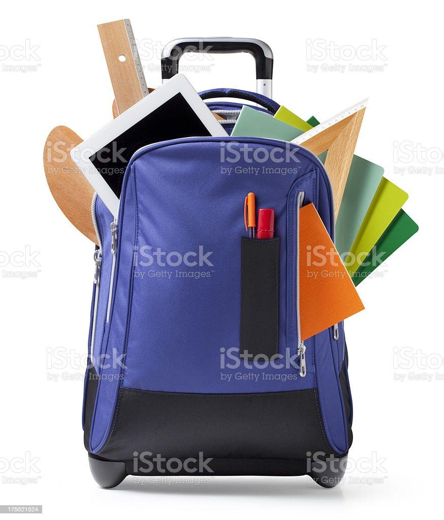 Bildung. Rucksack mit Schule Zubehör. – Foto
