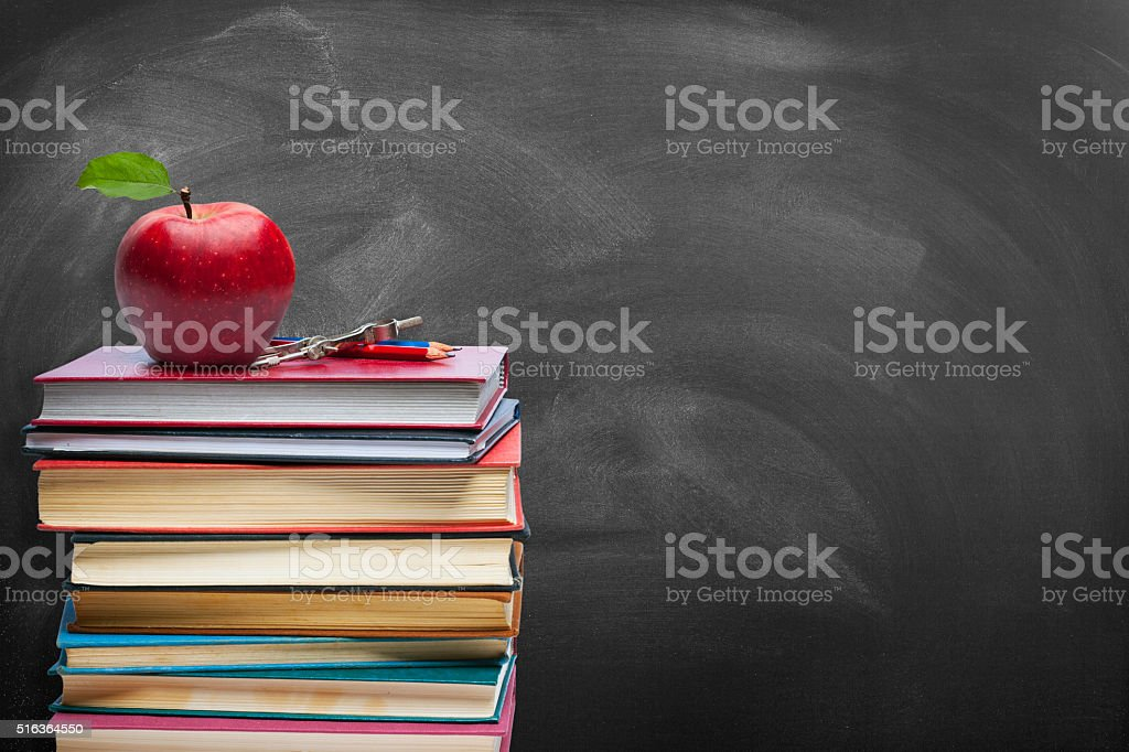 Education concept - Blackboard stock photo