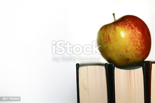 istock education concept books stack, apple and pen 851790350