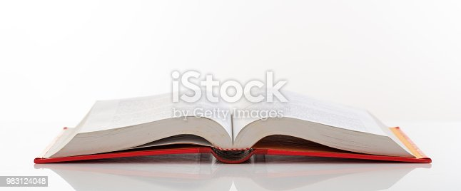Education concept. Book open on white background