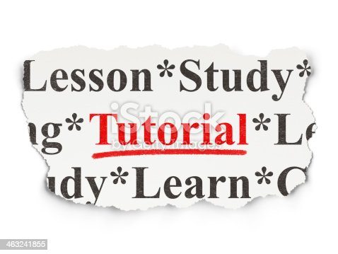 istock Education concept: Tutorial on Paper background 463241855