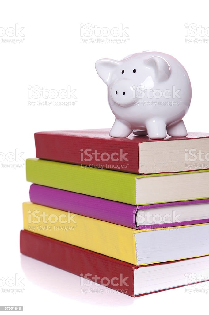 Education cost royalty-free stock photo