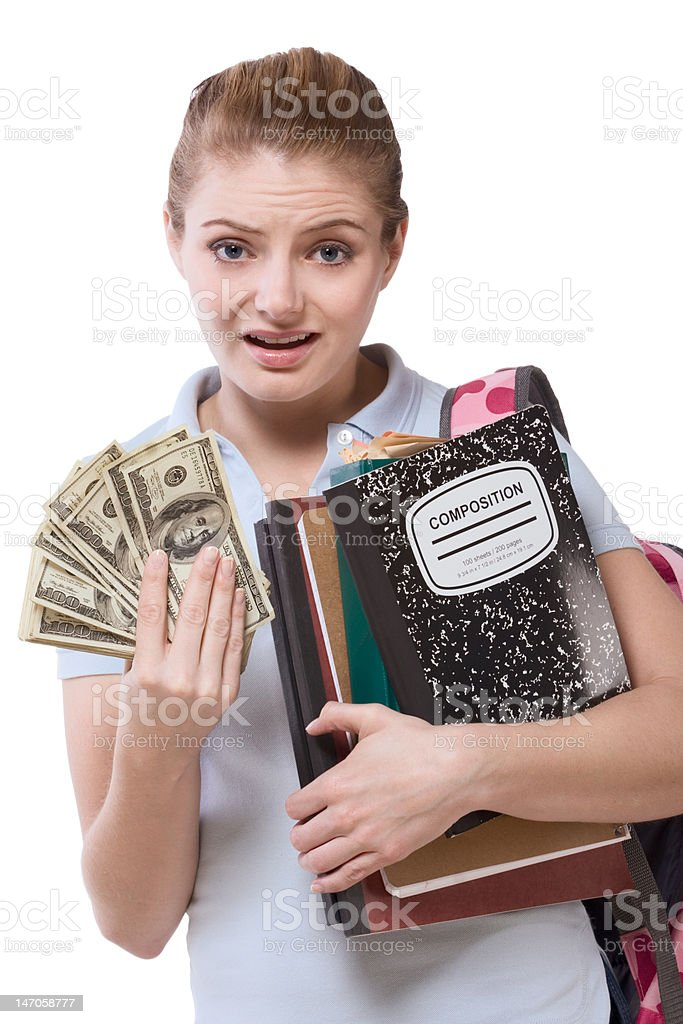 education cost serious problem for girl student royalty-free stock photo