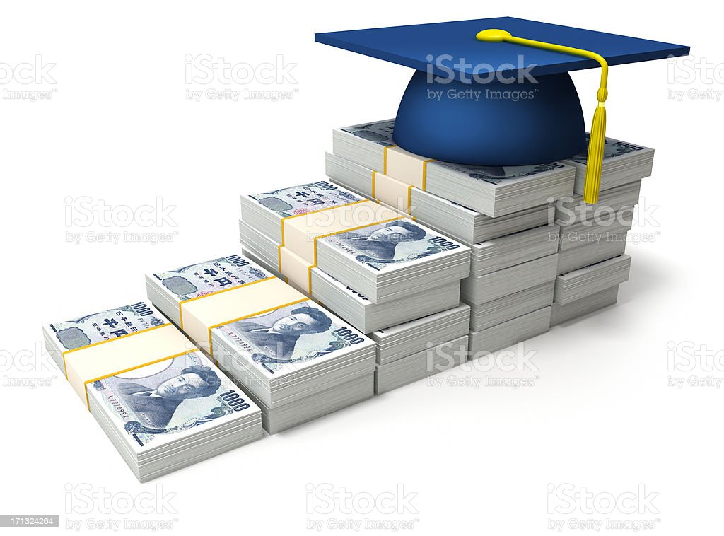 Education costs in Japan stock photo