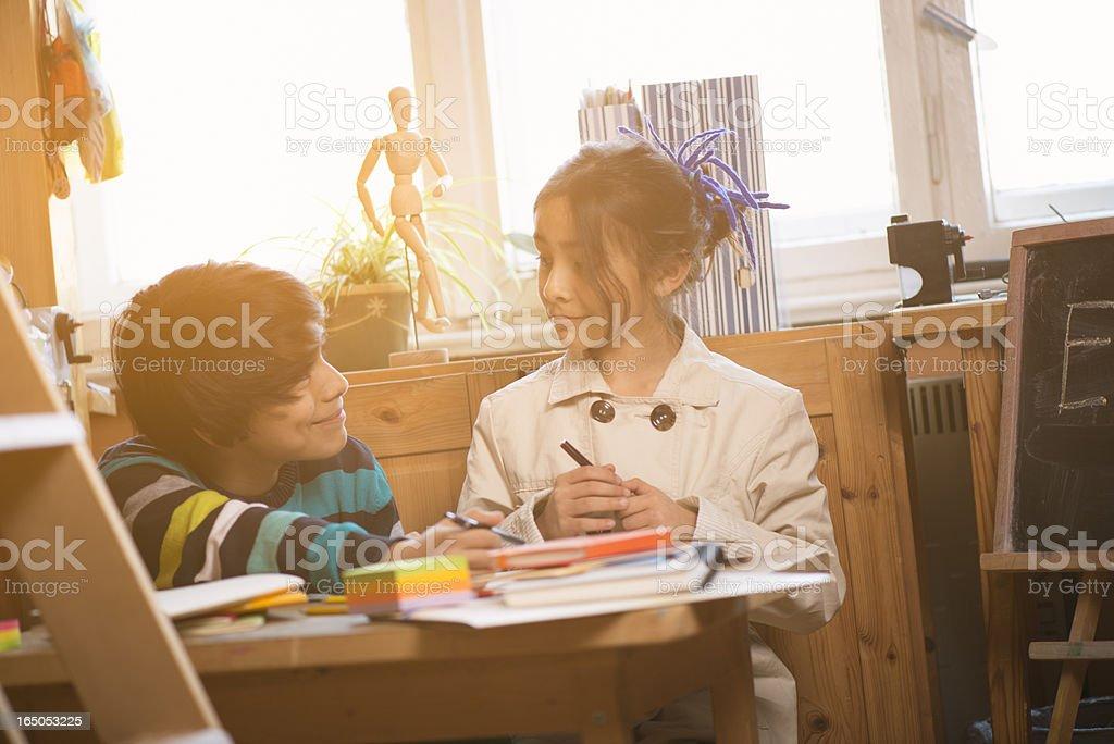 Education, doing homework royalty-free stock photo