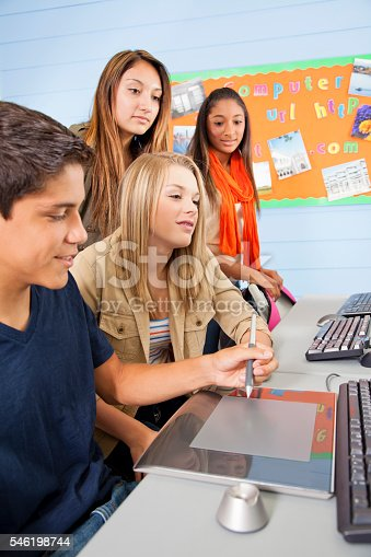 istock Education: High school students in computer lab. 546198744