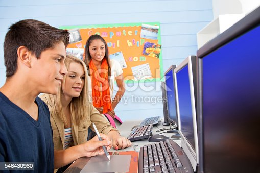 istock Education: High school students in computer lab. 546430960