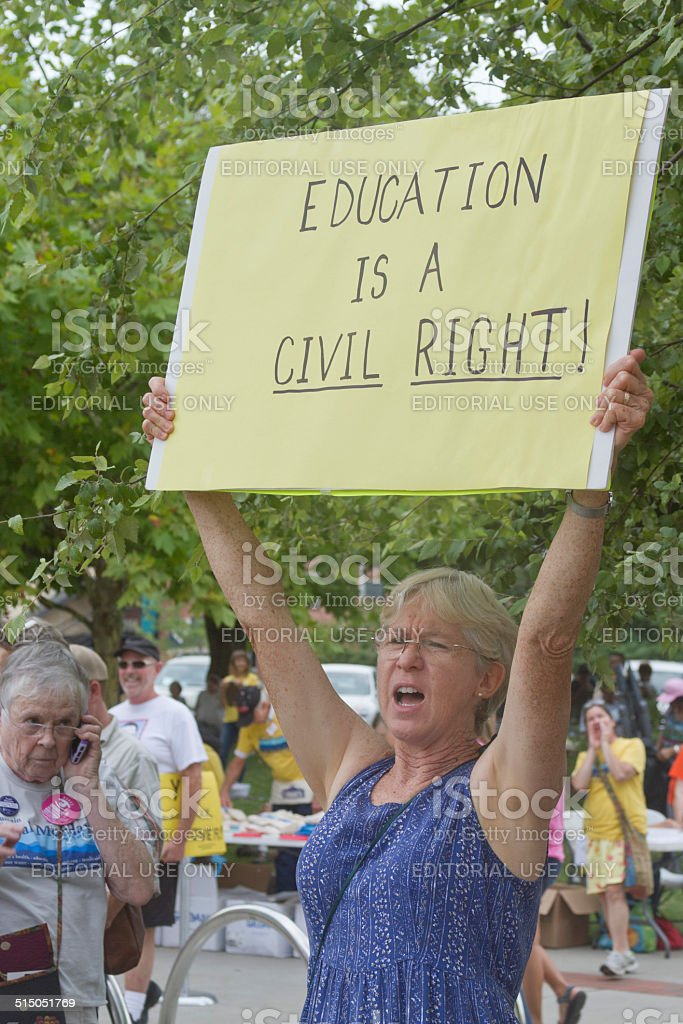 Education Is a Civil Right Sign stock photo