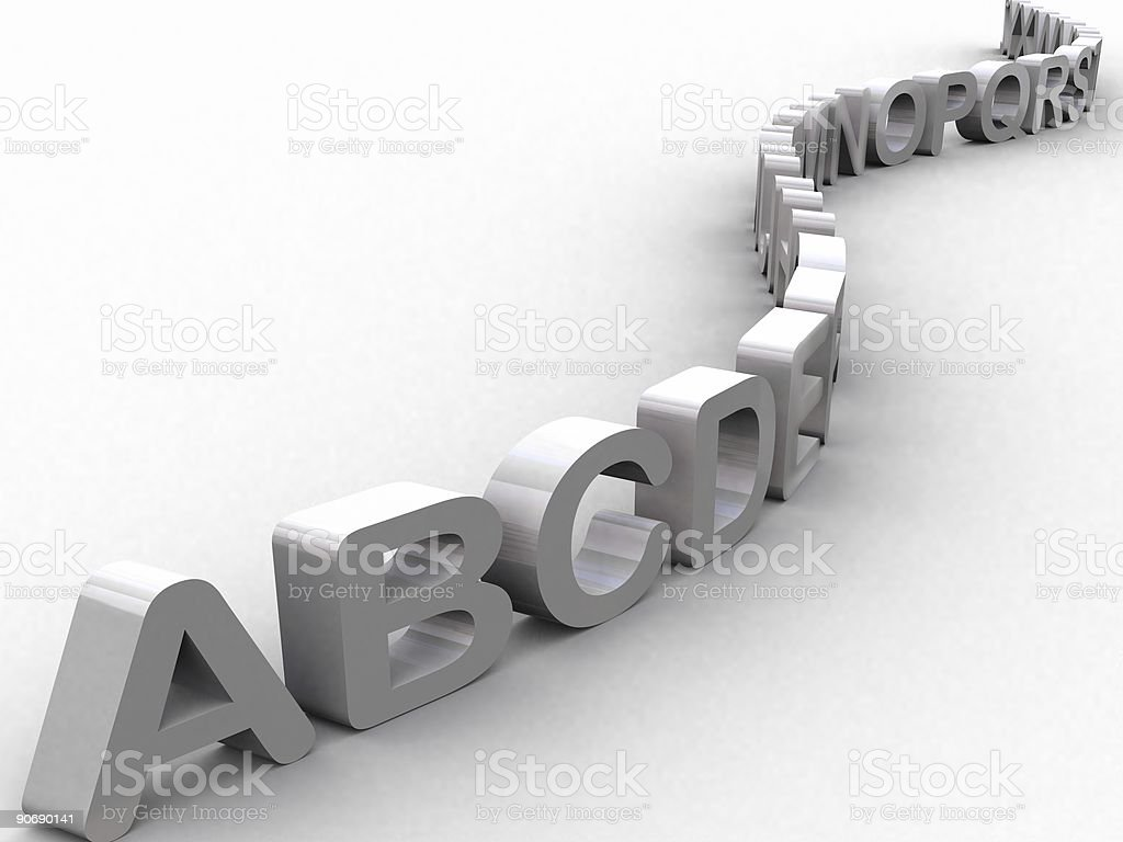 Education Line (3D) stock photo