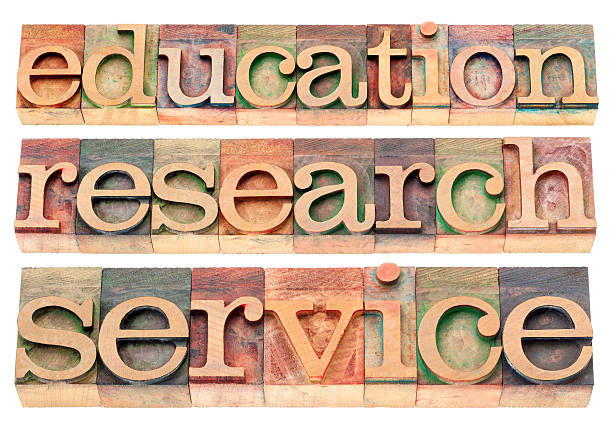 education, research and service stock photo
