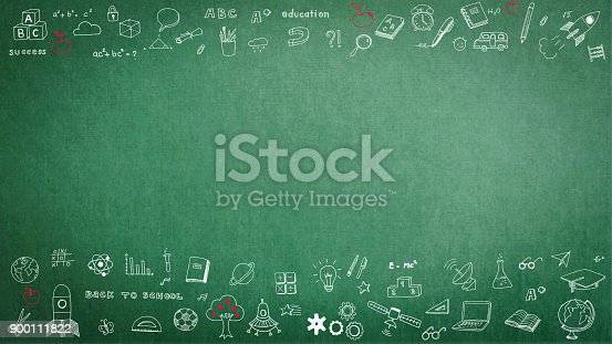 istock Education school black chalkboard with copy space 900111822