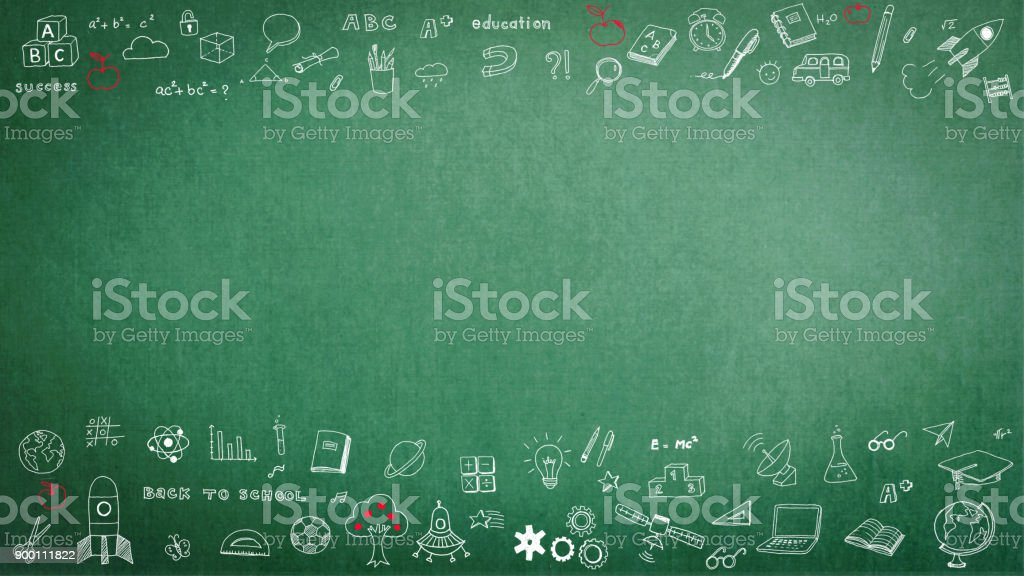 Education school black chalkboard with copy space stock photo