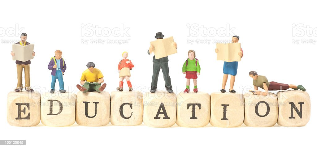 education word abstract with people stock photo