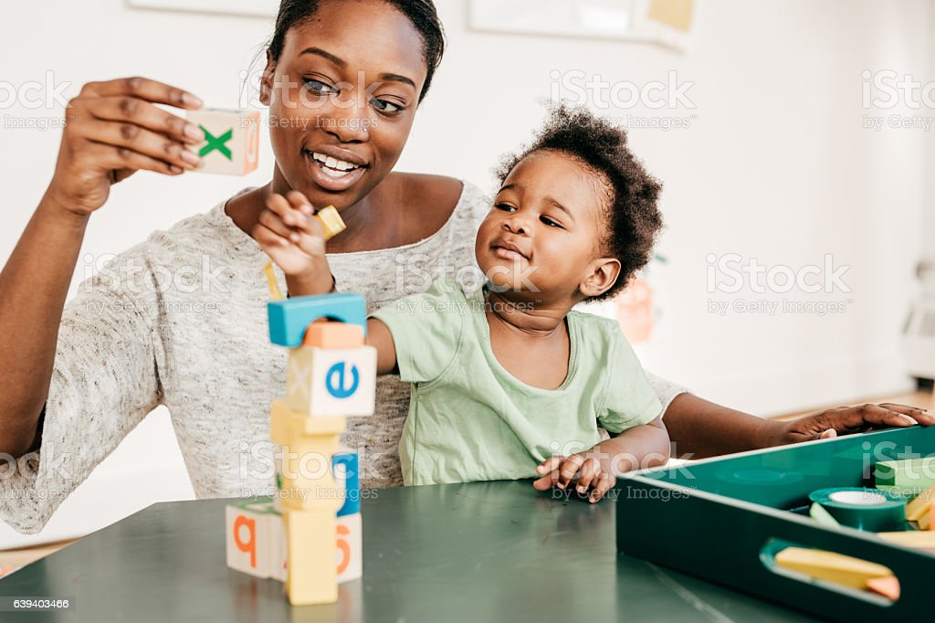 Educational activities for toddlers stock photo