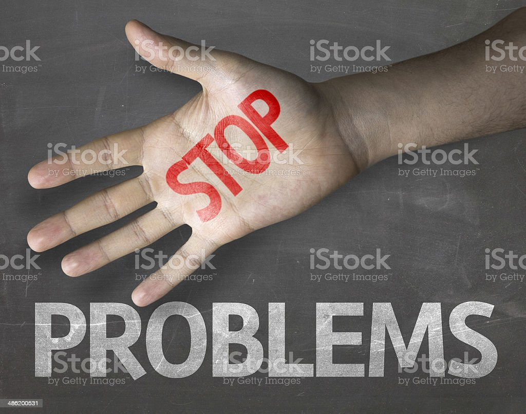 Educational and Creative composition with the message Stop Problems royalty-free stock photo