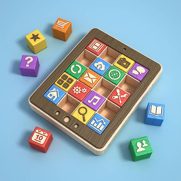 Lehrreiche software-apps Konzept-tablet pc – Foto