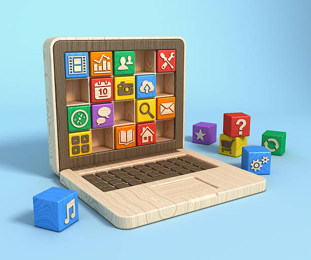 Bildung-Konzept. laptop software – Foto