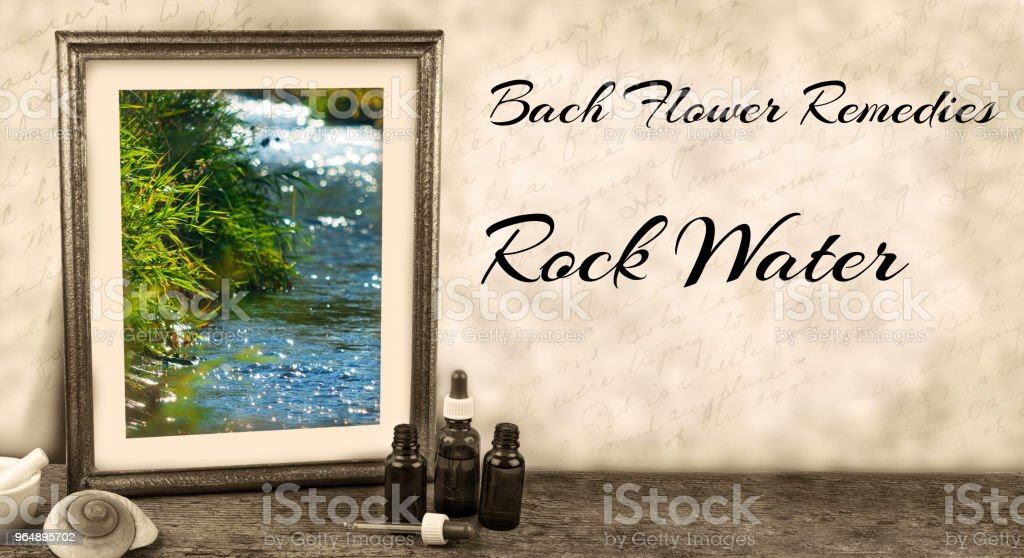 Edward Bach - Bach Flower Remedies - Rock Water royalty-free stock photo