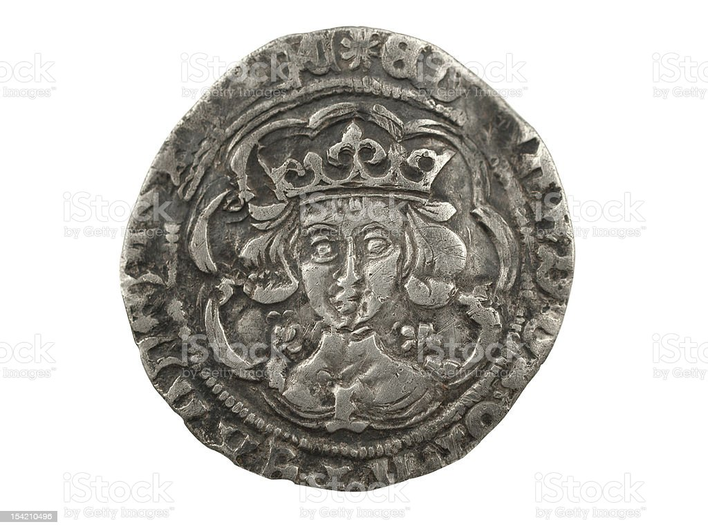 Edward IV Silver Coin 1464-1470 stock photo