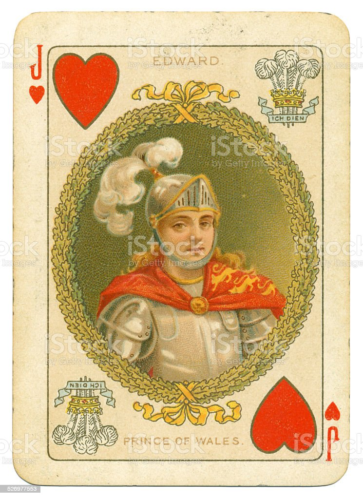 Edward Longshanks Prince of Wales Jack of Hearts stock photo