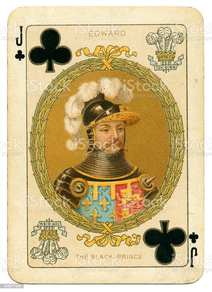 Edward the Black Prince Jack of Clubs stock photo