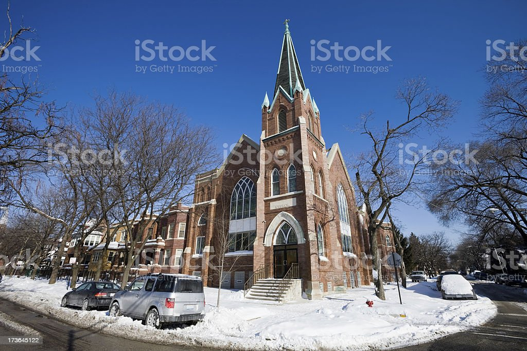 Edwardian Church in Chicago royalty-free stock photo