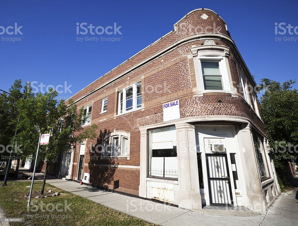 Edwardian Commercial Building in Clearing, Chicago royalty-free stock photo