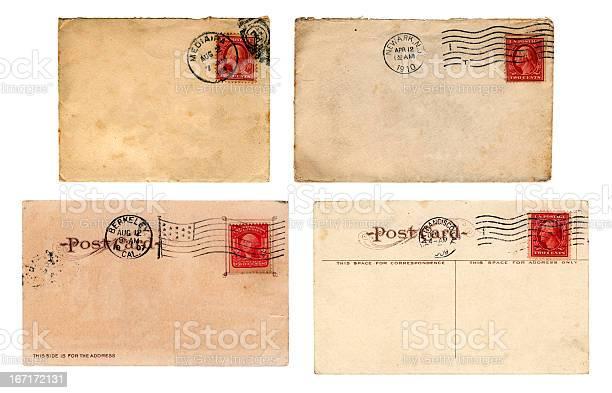 Edwardian era US mail - envelopes and postcards