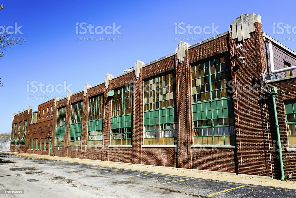 Edwardian Factory Building in Burnside, Chicago royalty-free stock photo