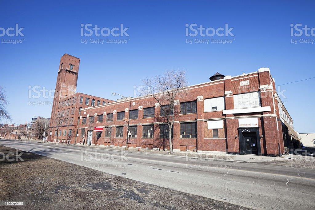 Edwardian factory on Western Avenue, Chicago stock photo