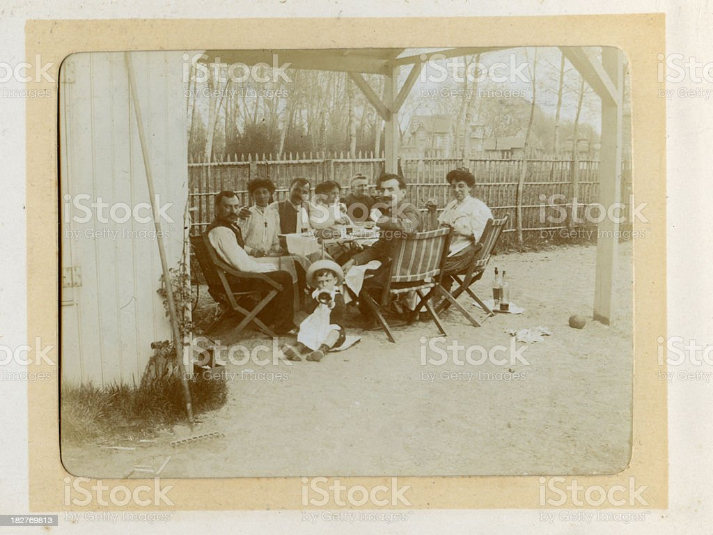 Edwardian Family Vintage Photograph royalty-free stock photo