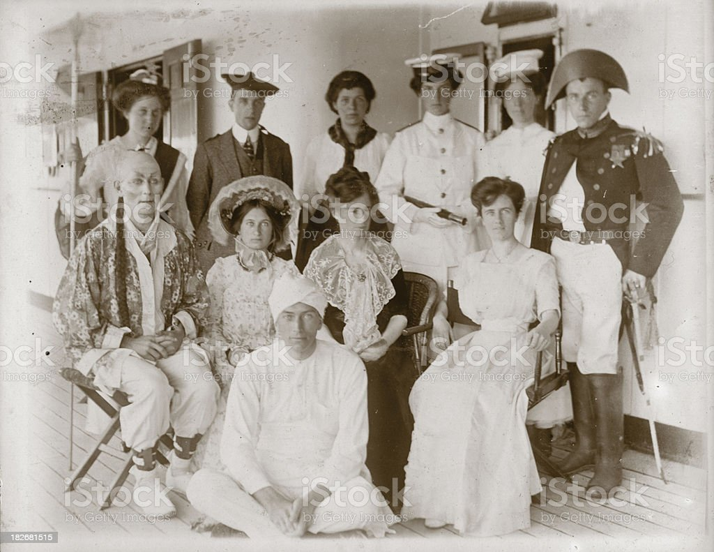 Edwardian Fancy Dress stock photo