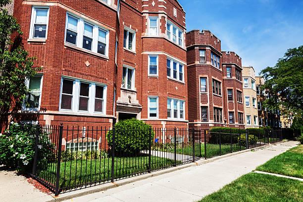Edwardian flats in Washington Heights, Chicago stock photo
