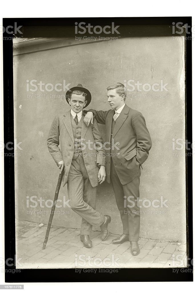 Edwardian Friends stock photo