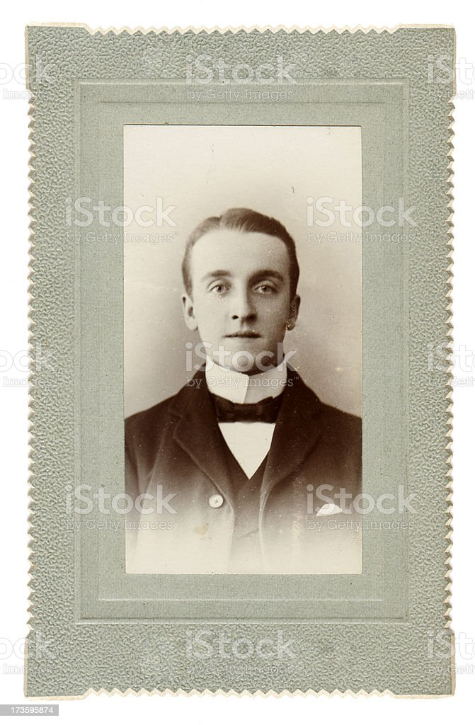 Edwardian Gent stock photo