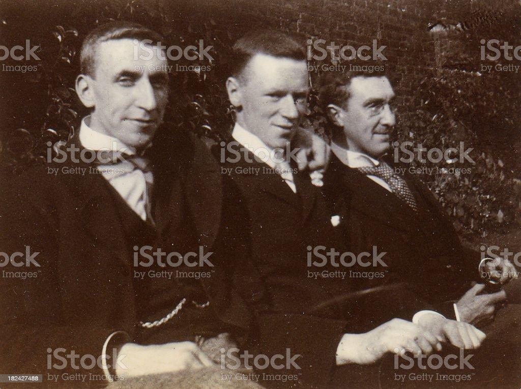 Edwardian Gentlemen stock photo
