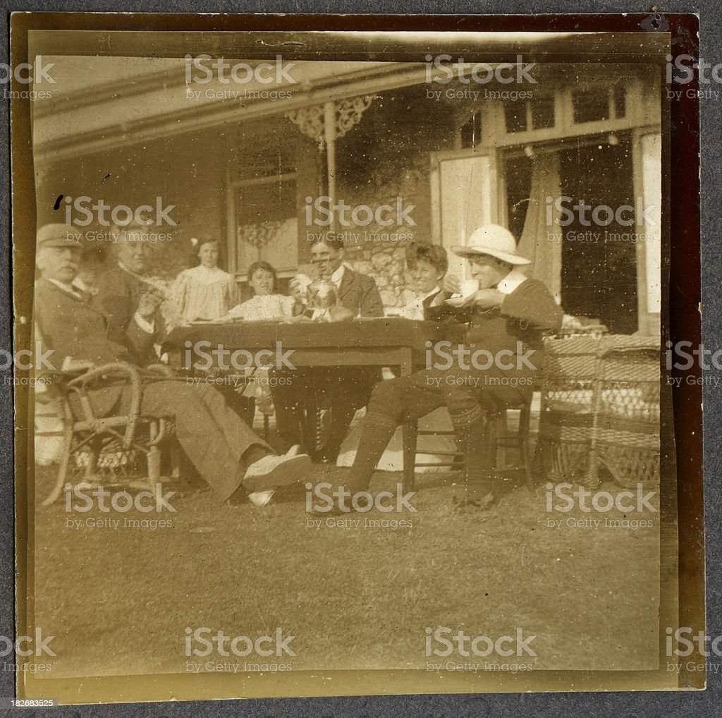 Edwardian lunch royalty-free stock photo