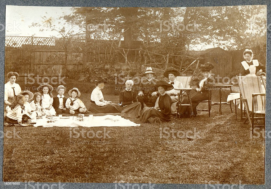 Edwardian Picnic royalty-free stock photo
