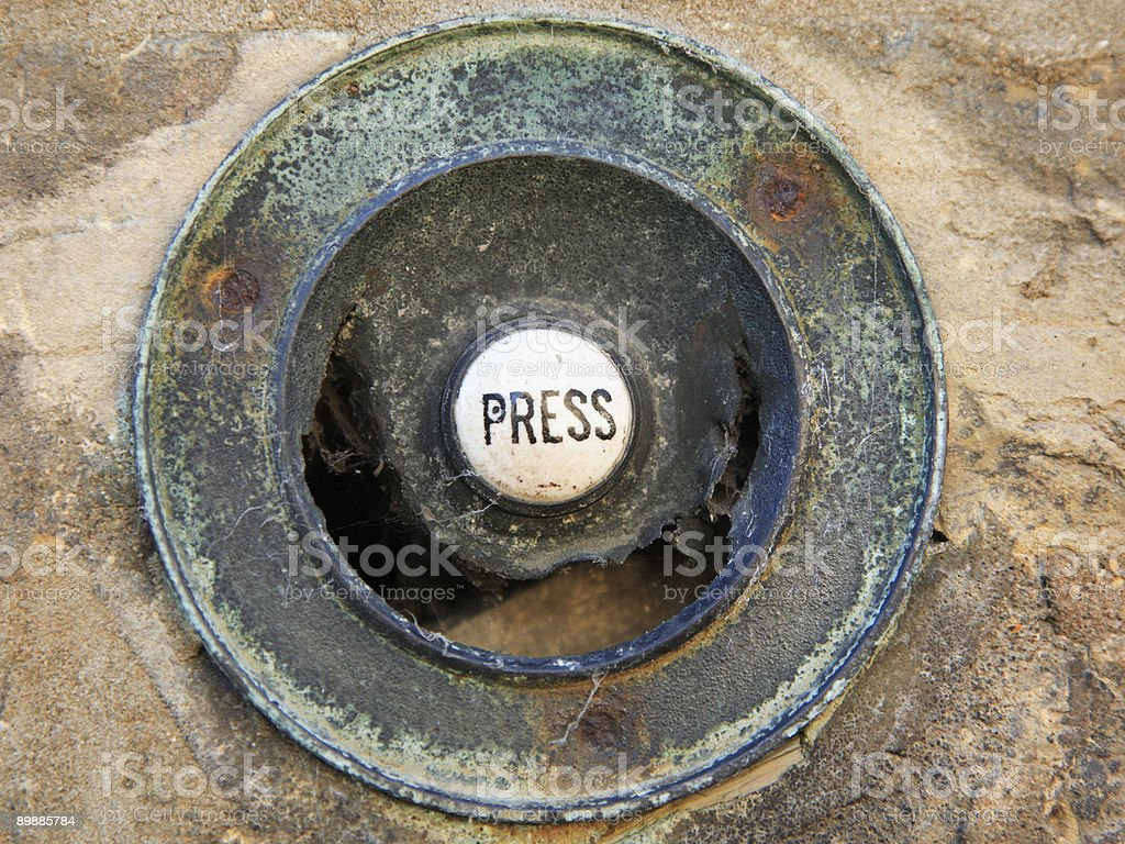 Edwardian/Victorian doorbell royalty free stockfoto